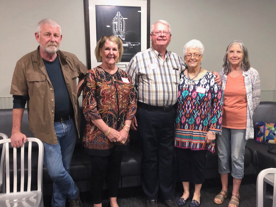 Photo - Jim Lange, Ashley Dahlgren Parrish, Ron Wortham, Louanne Ward Trueblood, Ginger Dodson. PHOTO PROVIDED