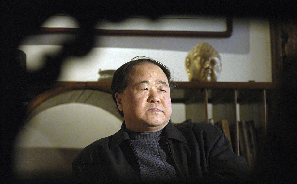 Photo -   In this photo taken on Tuesday, Dec. 27, 2005, Chinese writer Mo Yan listens during an interview in Beijing, China. Mo was awarded the Nobel Prize in literature during a ceremony in Sweden on Thursday, Oct. 11, 2012. (AP Photo) CHINA OUT