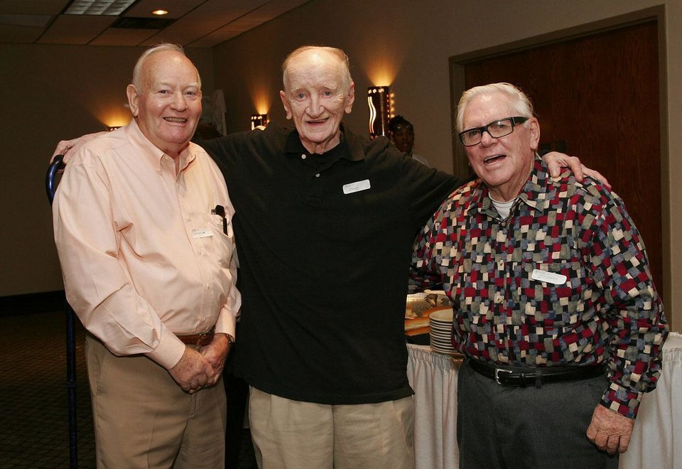 Marion Swearingen, Dick Howard, Rich Stephens. - PHOTO by David Faytinger, FOR THE OKLAHOMAN