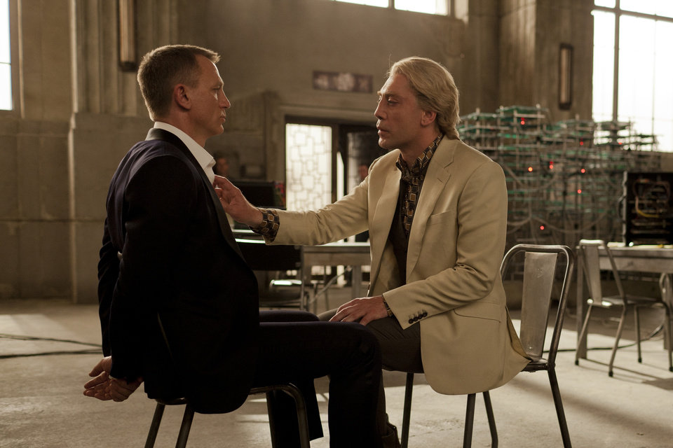 "Daniel Craig (left) and Javier Bardem star in Metro-Goldwyn-Mayer Pictures/Columbia Pictures/EON Productions' action adventure ""Skyfall."" (Francois Duhamel/Courtesy Columbia Pictures/MCT)"