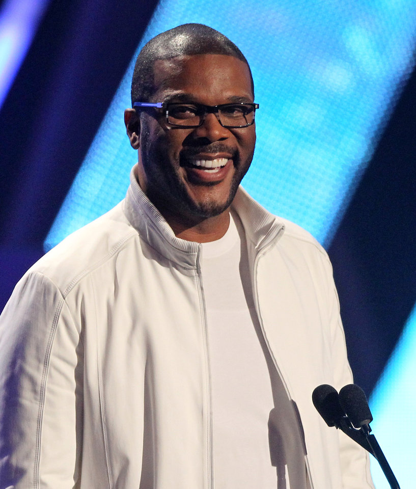 Photo -   Tyler Perry is seen at the BET Awards on Sunday, July 1, 2012, in Los Angeles. (Photo by Matt Sayles/Invision/AP)