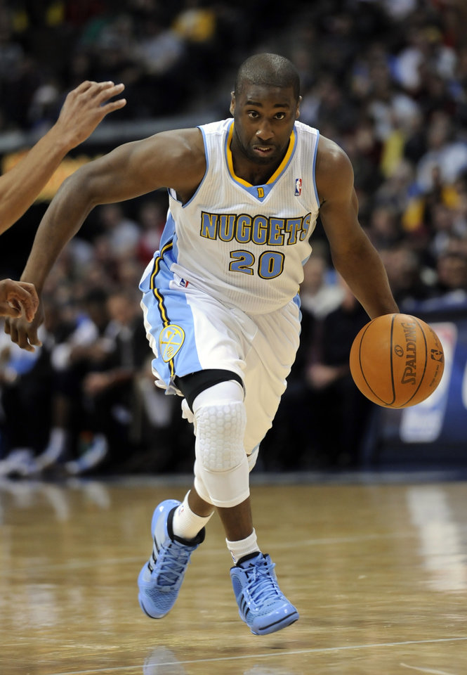 Guard Raymond Felton: Averaged 11.5 points per game in 21 games with Denver after coming over from New York. Backed up Ty Lawson each game. (AP Photo/Jack Dempsey)