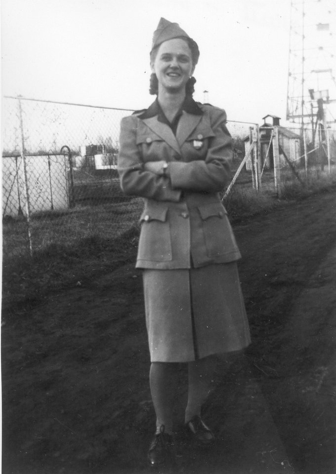 Photo -  An unidentified WAC in uniform during World War II. [Photo provided by Tinker History Office]