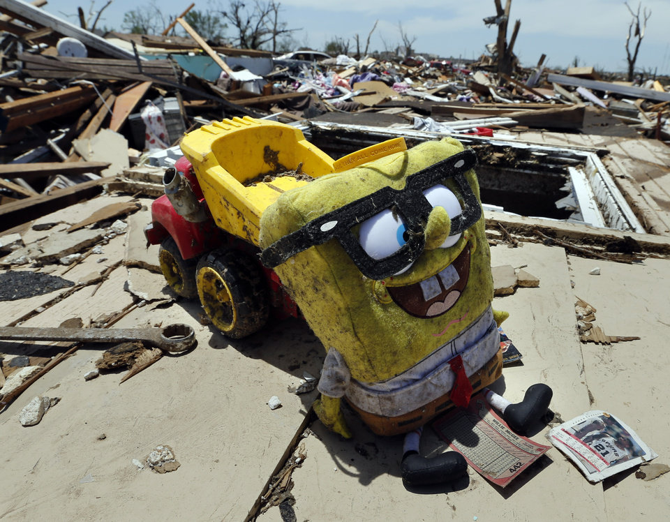 An odd collection of items rests on the ground following Monday's tornado on Wednesday, May 22, 2013 in Moore, Okla. Photo by Steve Sisney, The Oklahoman