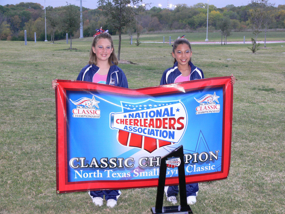 Kaitlin and Taylor at NCA cheer championship, Garland,Texas 11/5/2006 Community Photo By: Jeff G Submitted By: Jeff, Midwest city