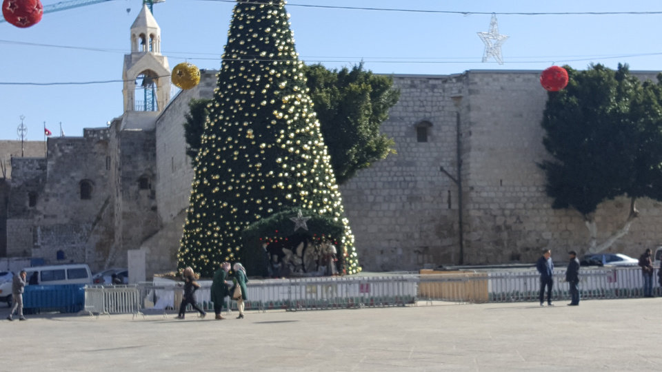 Photo - Manger Square in Bethlehem [Photo by Carla Hinton, The Oklahoman]