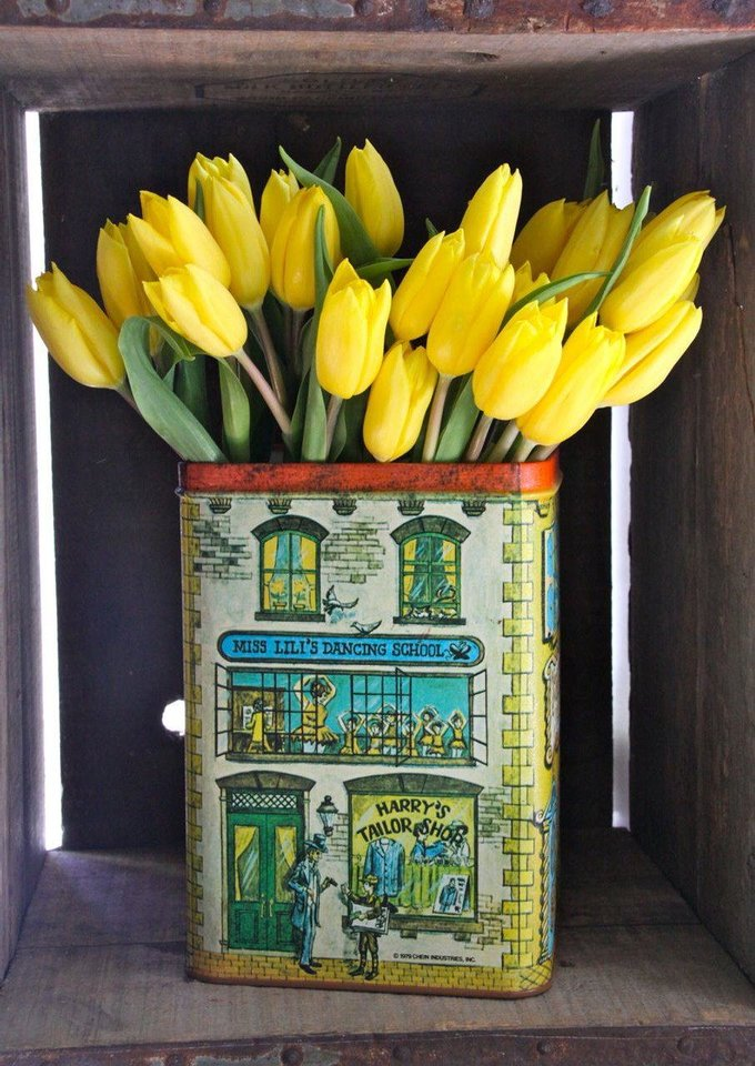Photo - Look for containers that have some history, such as an antique tin as seen here. Photo provided by iBulb.
