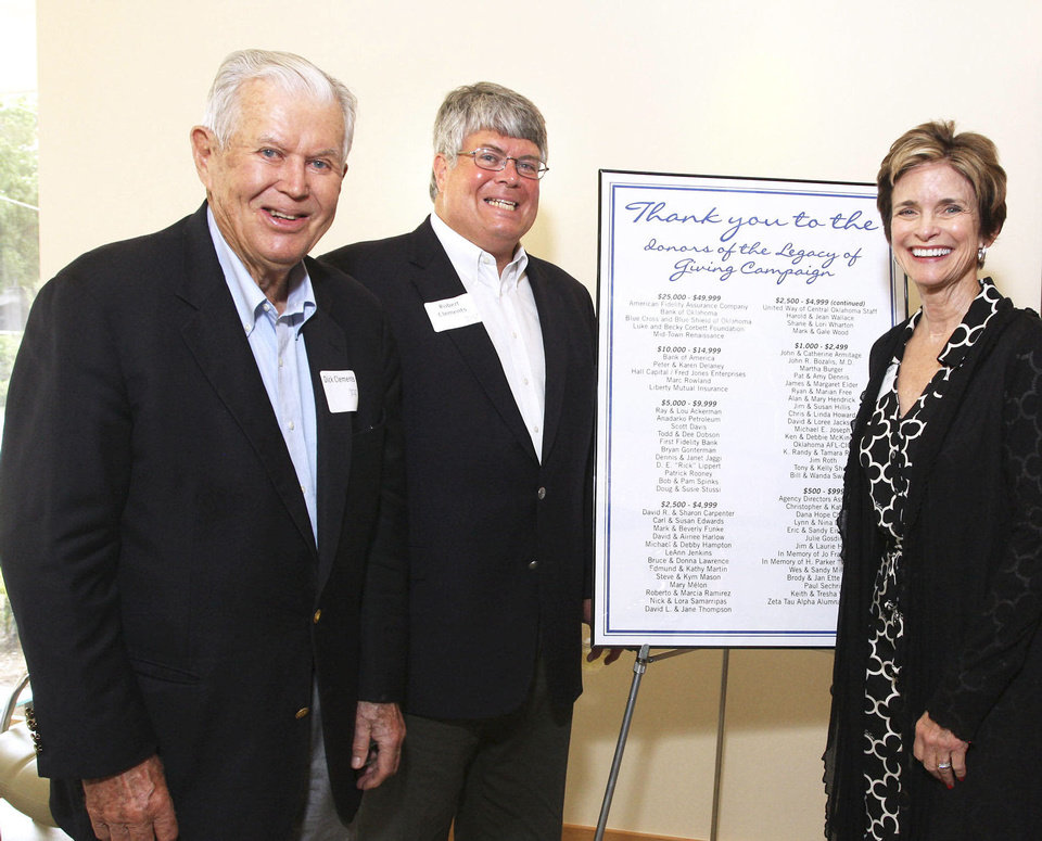Photo - Dick and Robert Clements, Polly Nichols, Photo by David Faytinger, for the Oklahoman
