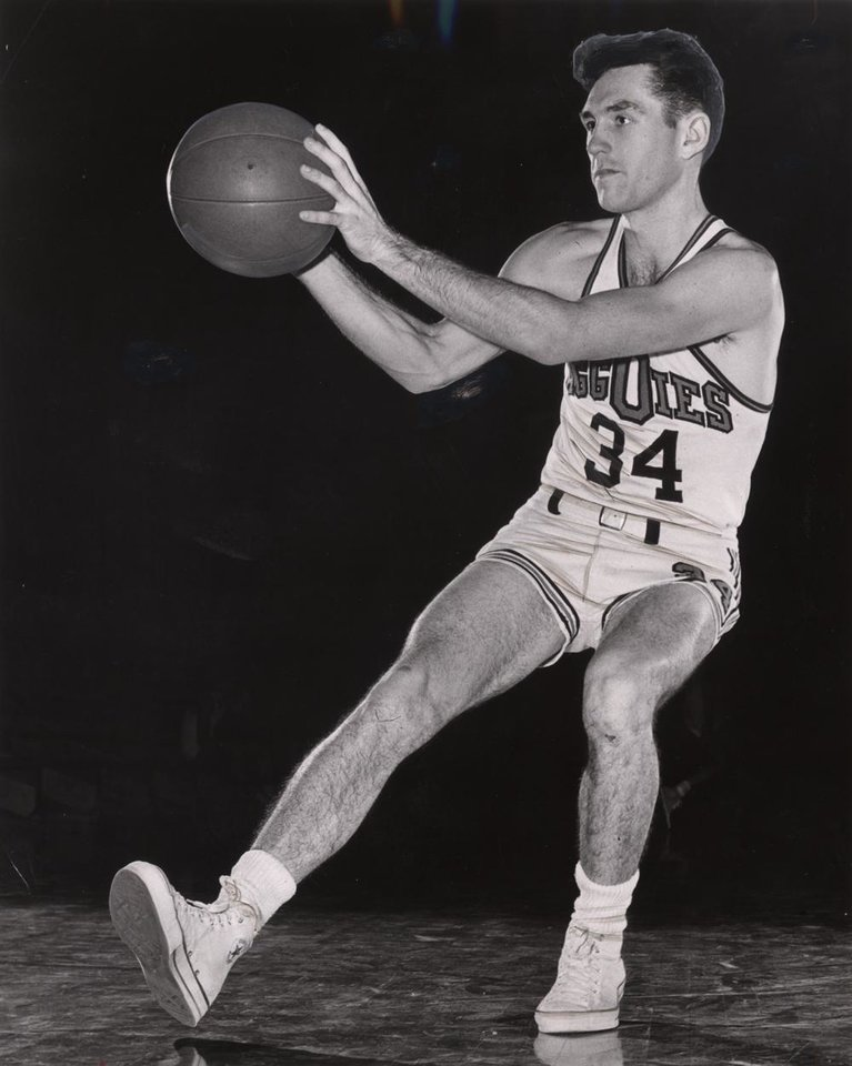 Photo - Eddie Sutton, Oklahoma A&M college basketball player (now OSU basketball coach) (Original photo dated 1956, ran 01/20/57) Staff Photo by Bob Albright