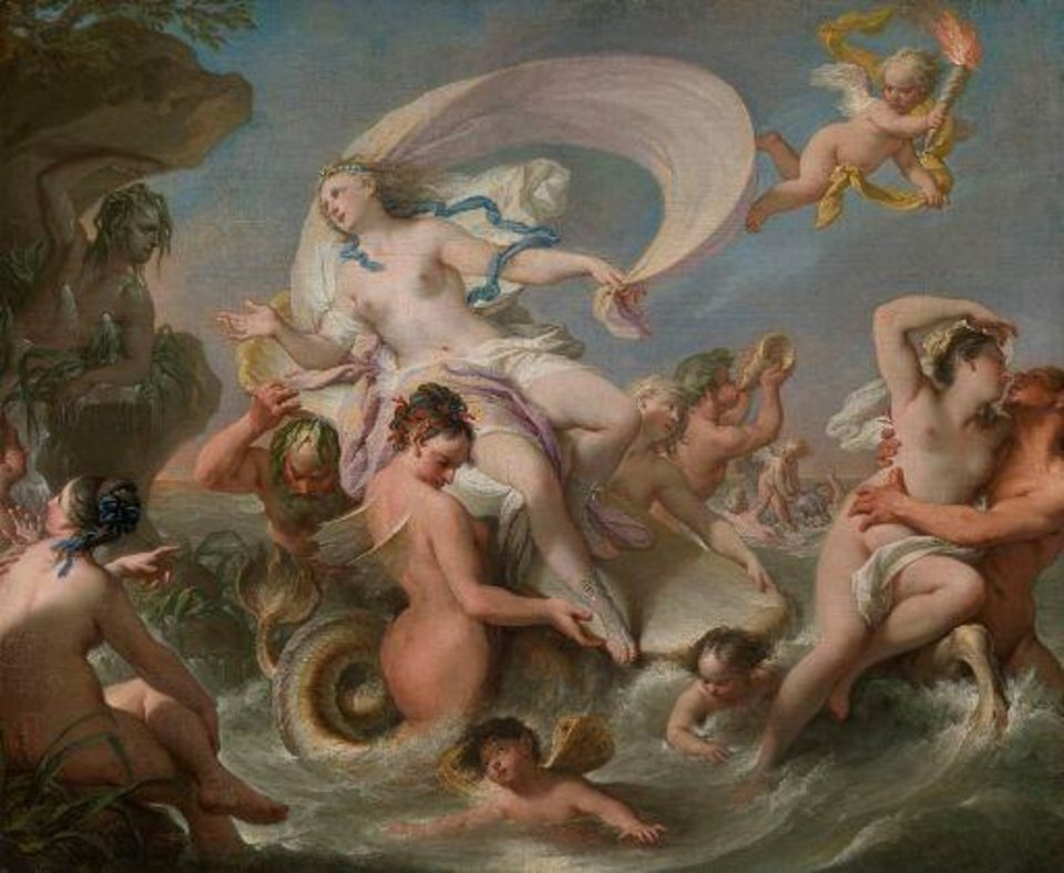 """Triumph of Galatea,"" circa 1740-65, by Andrea Casali, is featured in the exhibit ""Of Heaven and Earth: 500 Years of Italian Painting from Glasgow Museums"" at the Oklahoma City Museum of Art. Photo provided by American Federation of Arts"