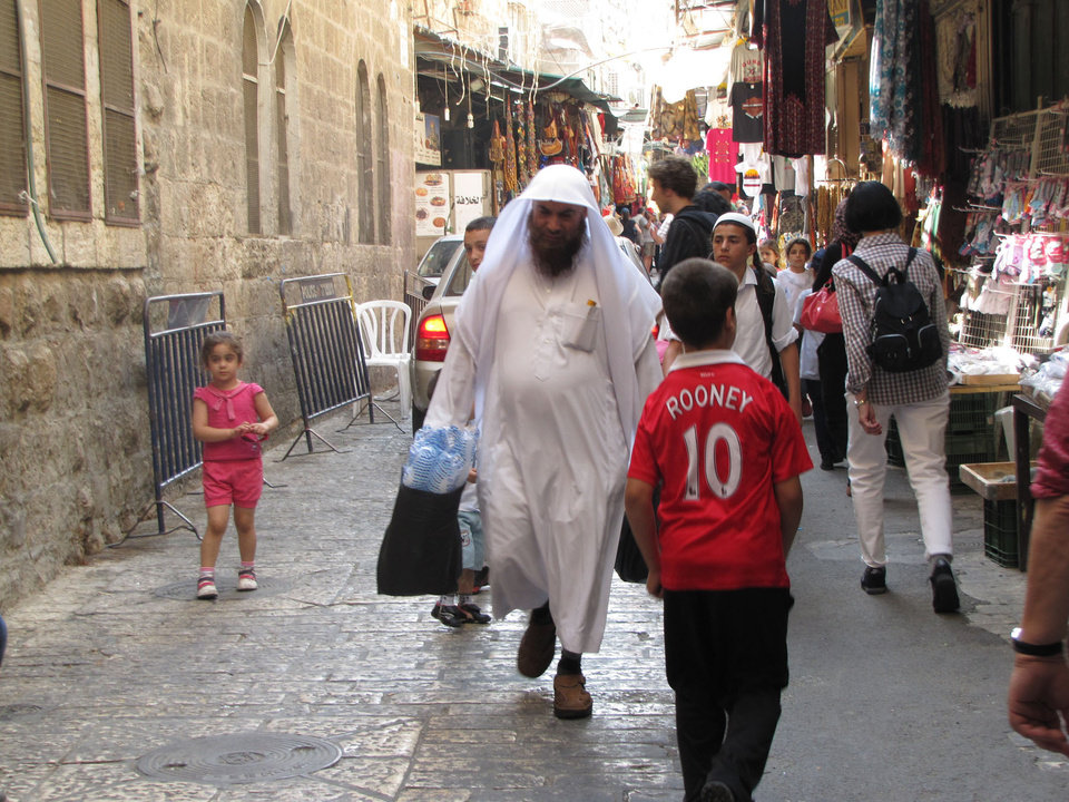 Photo -  Locals do their shopping in Jerusalem's bustling Old Town. Photo courtesy of Barbara Selwitz.