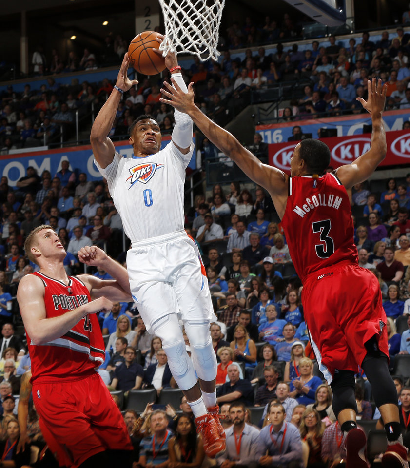 Photo - Oklahoma City's Russell Westbrook has 12 triple-doubles this season, the most since Jason Kidd had 13 in 2007-08. (Photo by Nate Billings, The Oklahoman)