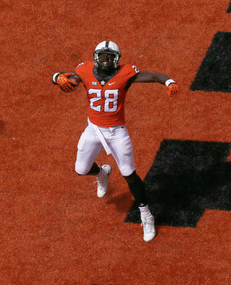 Photo - Oklahoma State receiver James Washington has seen several different coverages this season. (Photo by Sarah Phipps, The Oklahoman)