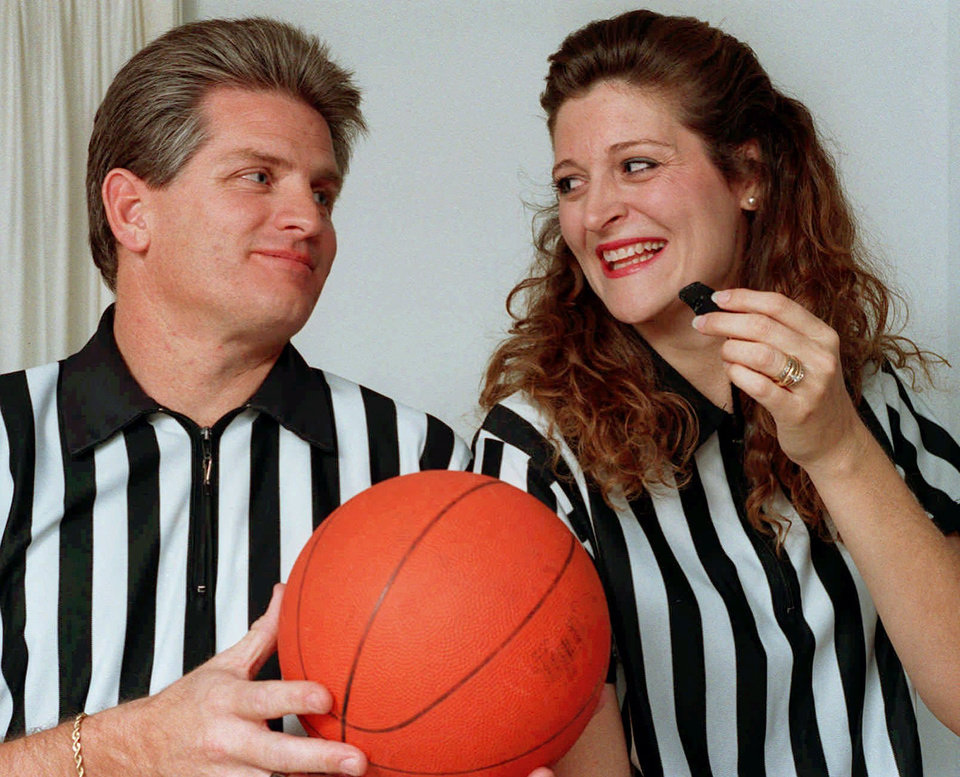 Photo - Spouse basketball referees RICK ROOP and VICKIE SEAL