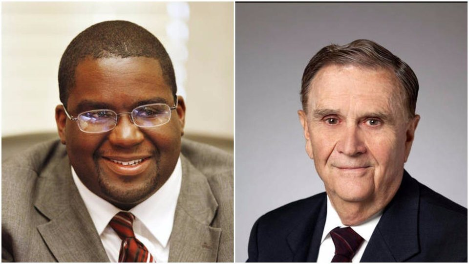 Photo - Both Ward 7 Councilman John Pettis (left) and Ward 3 Councilman Larry McAtee are expected to retain their seats on the Oklahoma City Council after Tuesday evening's primary election.