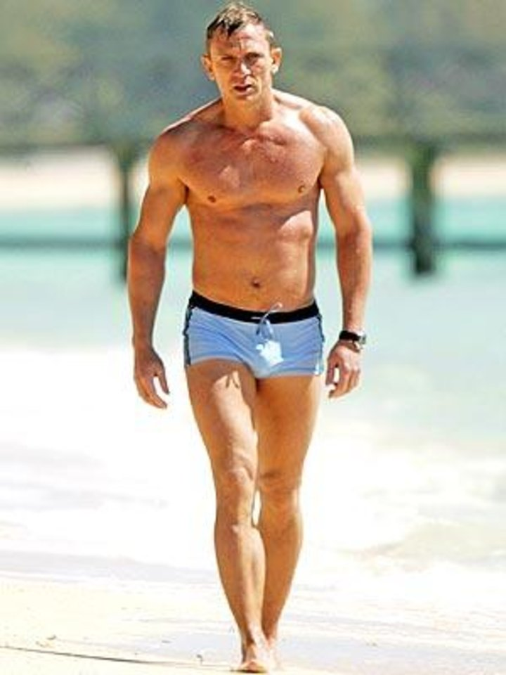 "In 2006's ""Casino Royale,"" Daniel Craig strode out of the surf clad in a barely there pair of swimtrunks by La Perla."