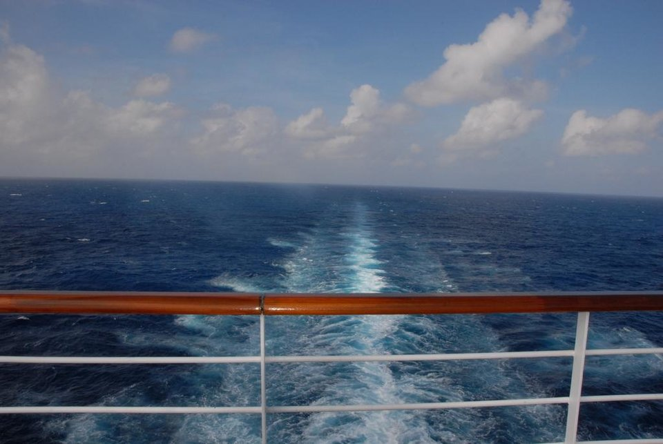 On the ship and headed to sea. (Photo from Happy Frazier)