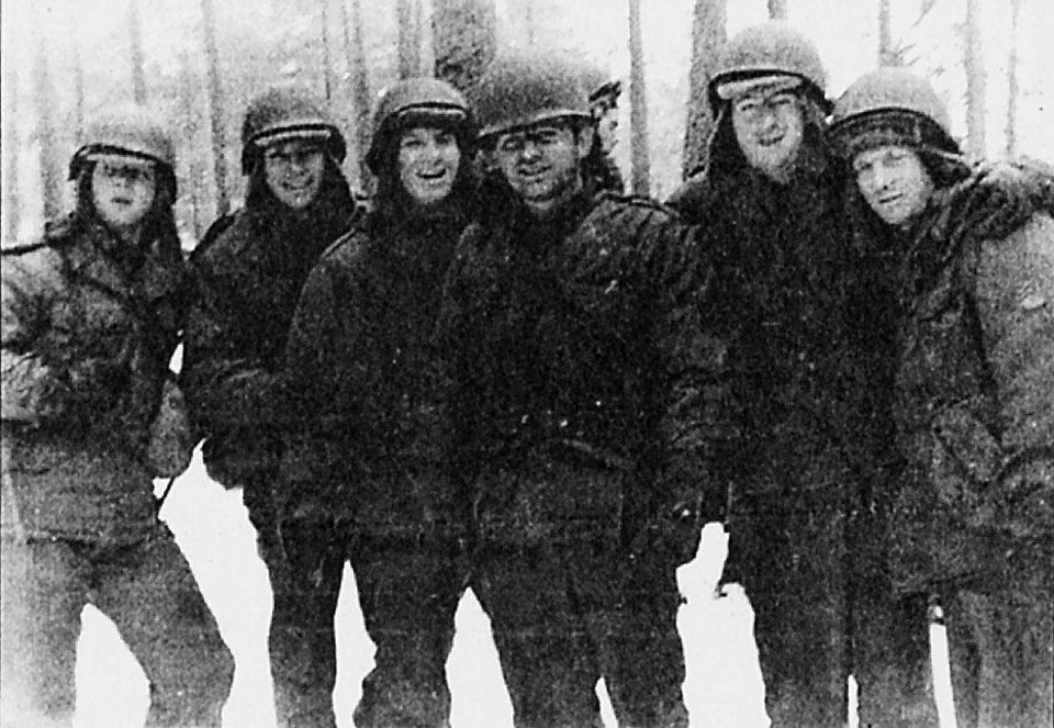 Photo - Stanley and Charles (Far left), and Charles on the far right stationed together in Germany during the Korean war  Courtesy