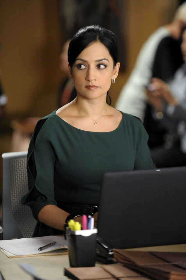 "This image released by CBS shows Archie Panjabi in a scene from ""The Good Wife."" Panjabi was nominated Thursday, Dec. 13, 2012 for a Golden Globe for best supporting actress in a series for her role in �The Good Wife .�  The 70th annual Golden Globe Awards will be held on Jan. 13. (AP Photo/CBS, Jeffrey Neira)"