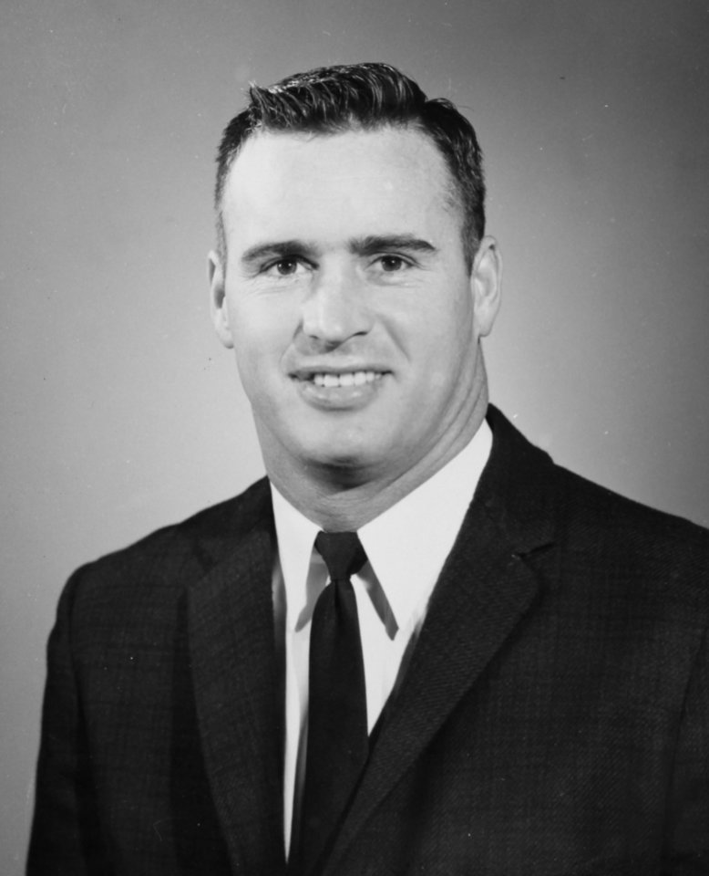 Photo - As OSU assistant coach Apr. 1, 1963: Oklahoma State University (OSU) football coach Jim Stanley