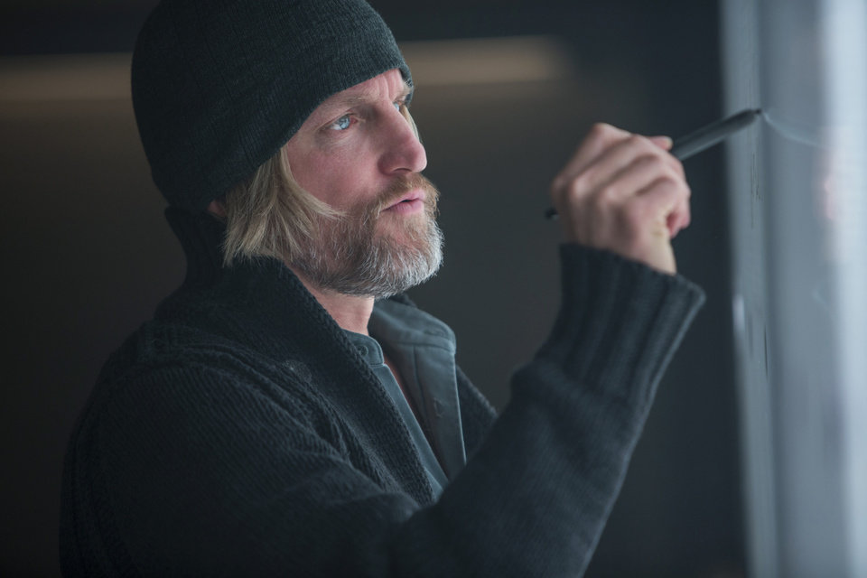 Photo - This photo released by Lionsgate shows, Woody Harrelson as Haymitch Abernathy, in a scene from the film,