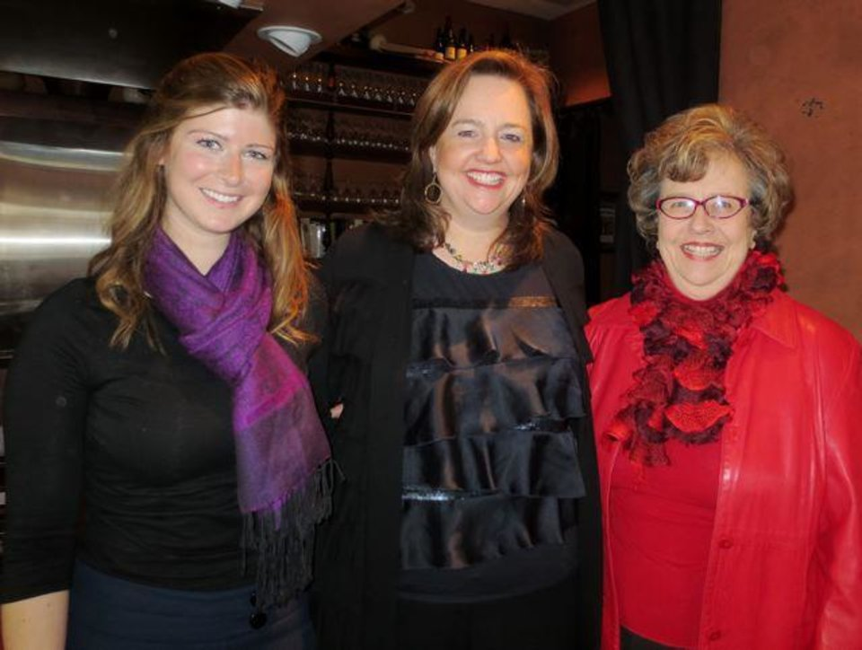 The 20-40-60 Etiquette columnists, Calllie Gordon, Lillie-Beth Brinkman, Helen Ford Wallace. (Photo by Pam Campbell).