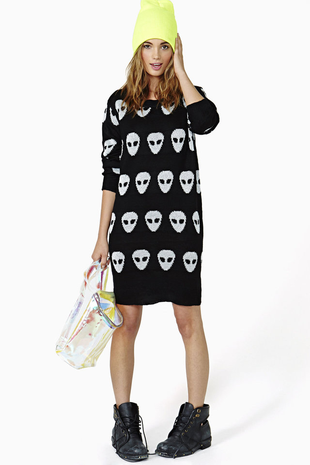 Photo - This alien sweater dress is sold online only at nastygirl.com. PHOTO PROVIDED
