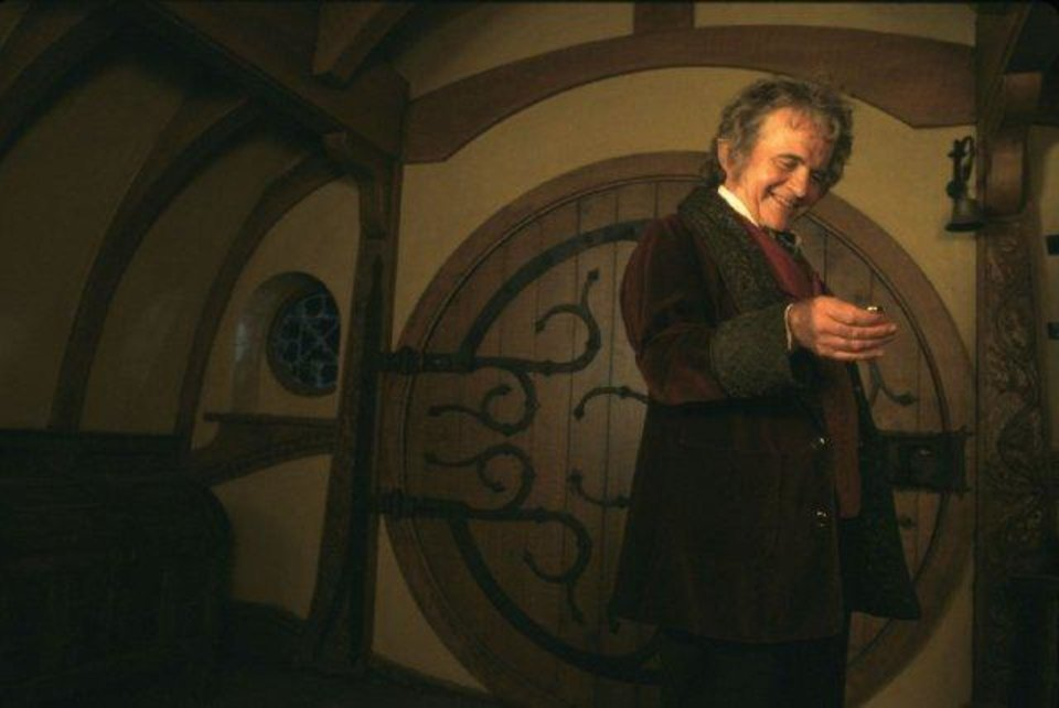 "Ian Holm appears as Bilbo Baggins in ""The Lord of the Rings: The Fellowship of the Ring."""
