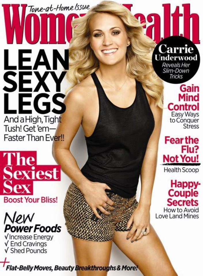 Carrie Underwood is featured on the November cover of Women's Health.