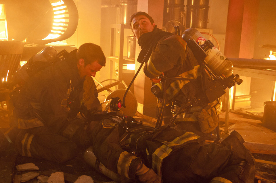 "Jesse Spencer, left, as Matthew Casey and Taylor Kinney as Kelly Severide in ""Chicago Fire."" NBC Photo <strong>NBC</strong>"