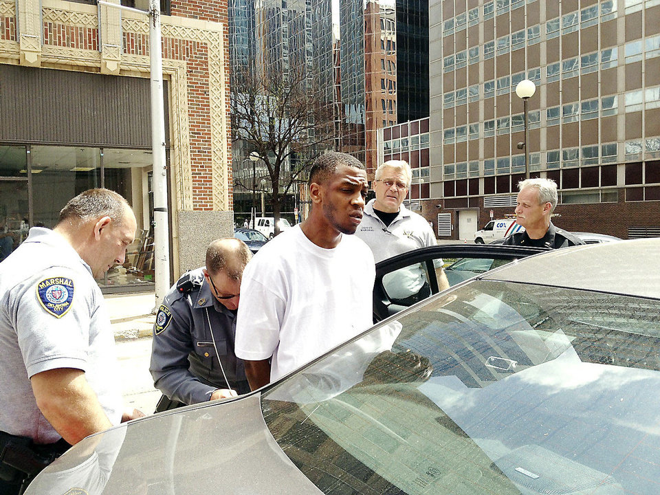 Murder suspect Marco Butterfield. Photo by Tim Willert, The Oklahoman