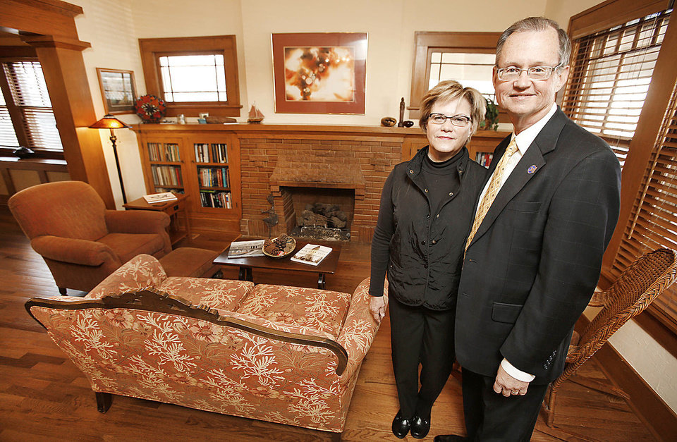 Debbie and Bob Blackburn are shown in the living room of their home on NW 22 in the Heritage Hills East neighborhood. Steve Gooch - The Oklahoman
