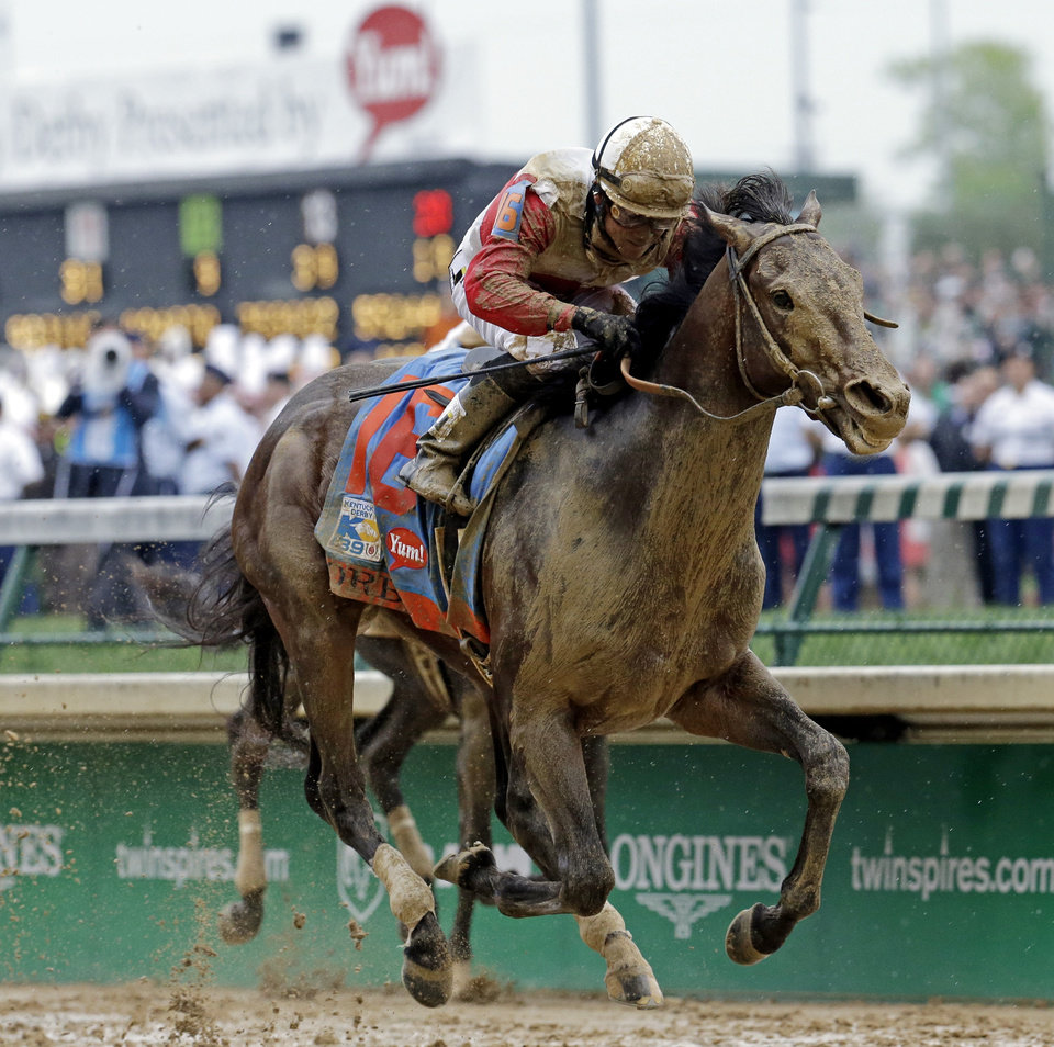 Joel Rosario rides Orb during the 139th Kentucky Derby at Churchill Downs Saturday, May 4, 2013, in Louisville, Ky. (AP Photo/J. David Ake)