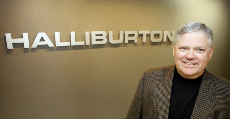 Eric Williams, midcontinent area vice president of Halliburton, poses in his Oklahoma Tower offices. Photo by David McDaniel David McDaniel