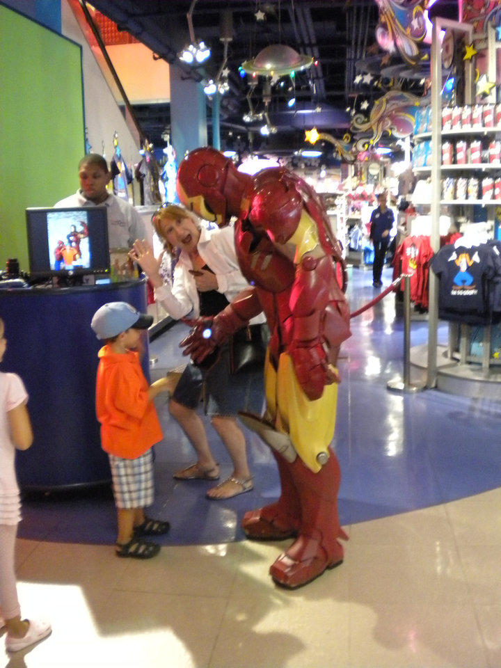 Meeting Iron Man and Spider-Man in New York