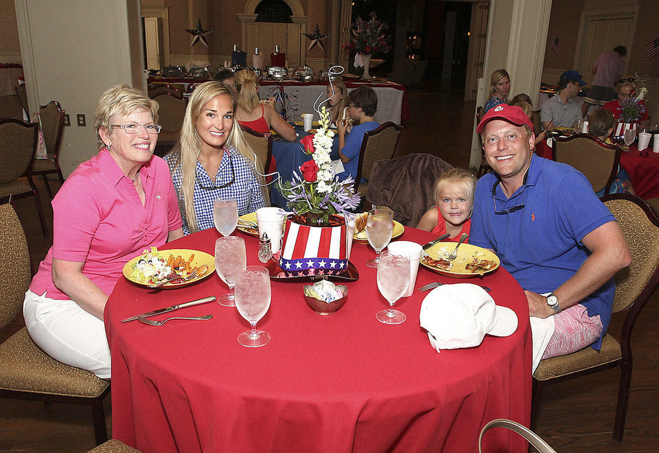 Photo - Sally Bentley, Leigh Hefner, Adelaide Smith, 3, and Nick Bentley.