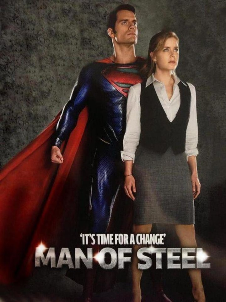 Photo -  Henry Cavill as Superman and Amy Adams as Lois Lane from Total Film magazine.