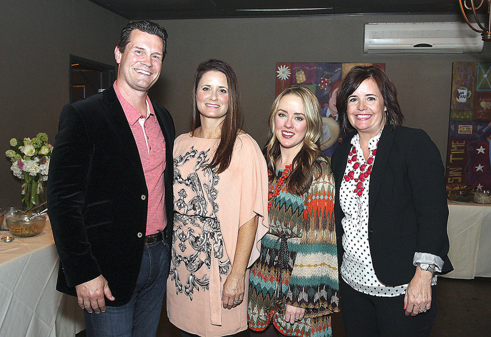 Photo - Geoff and Donna Potts, Margaux Lippoldt, Scarlet Henley. Photo by David Faytinger for The Oklahoman__