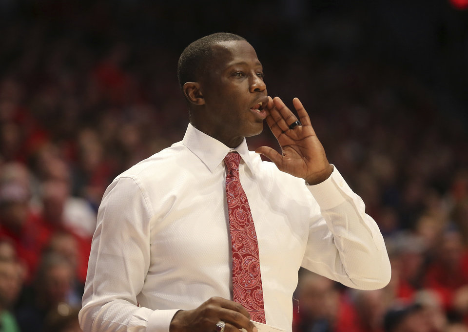 Photo - Dayton head coach Anthony Grant during the second half of an NCAA college basketball game against St. Louis , Saturday, Saturday, Feb. 1, 2020, in Dayton, Ohio. (AP Photo/Tony Tribble)