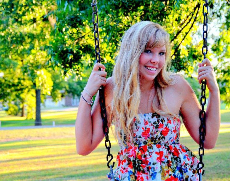 Photo - Kaitlin Nootbaar started college at Southwestern Oklahoma State University in Weatherford on Monday using a full-ride scholarship, however, without a diploma becasue her high school principal demanded an apology for her comencement speach. Photo Provided by David Nootbaar.