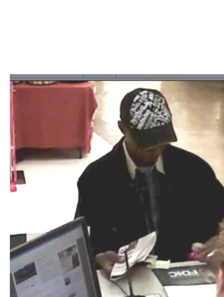 The FBI is searching for a man in the Monday robbery of a Norman bank. Photo provided <strong></strong>