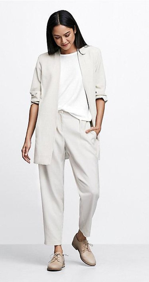 Photo - Eileen Fisher kimono style jacket and pants.