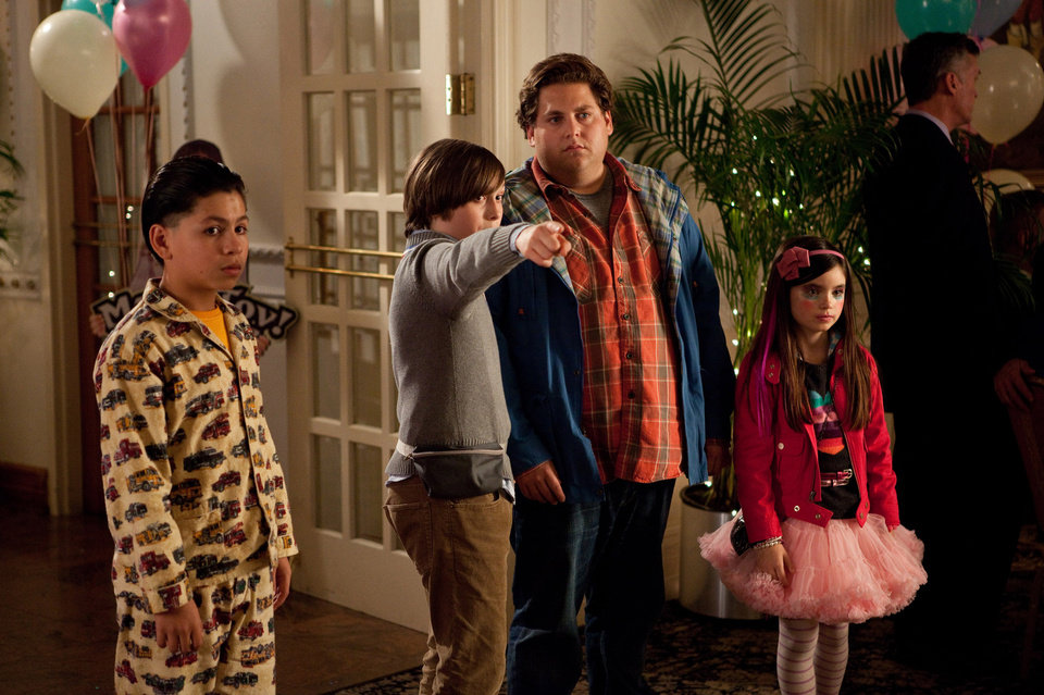 Photo - In this image released by 20th Century Fox, from left, Kevin Hernandez, Max Records, Jonah Hill and Landry Bender are shown in a scene from