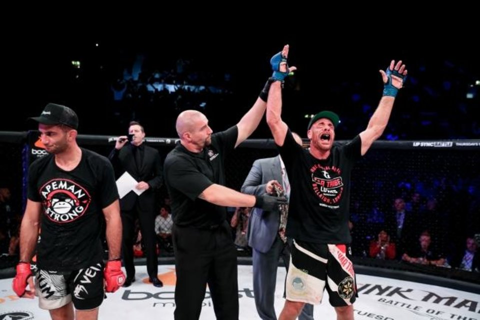 Photo -  Oklahoma City's Rafael Lovato Jr. realized a dream when he won the Bellator middleweight world championship last weekend. Now, he says he has a new dream -- defending the title for many years to come. [BELLATOR MMA]