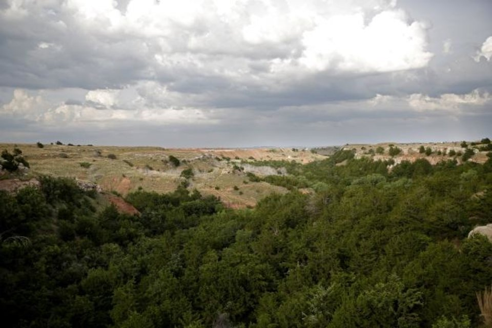Photo -  The terrain is shown at the Alabaster Caverns State Park near Freedom in 2018. [Sarah Phipps/The Oklahoman Archives]