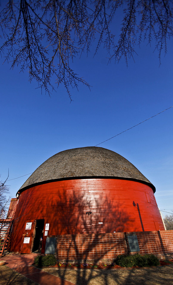 Above: The Round Barn in Arcadia will celebrate the 20th anniversary of its renovation on April 14.