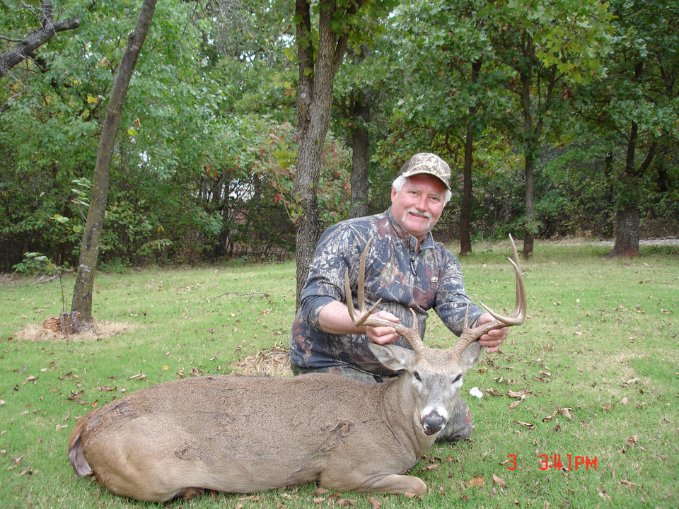 Photo -  Harold Fisher of Arcadia harvested this nice buck Oct. 2 in Roger Mills County. Archery season opened Oct. 1.