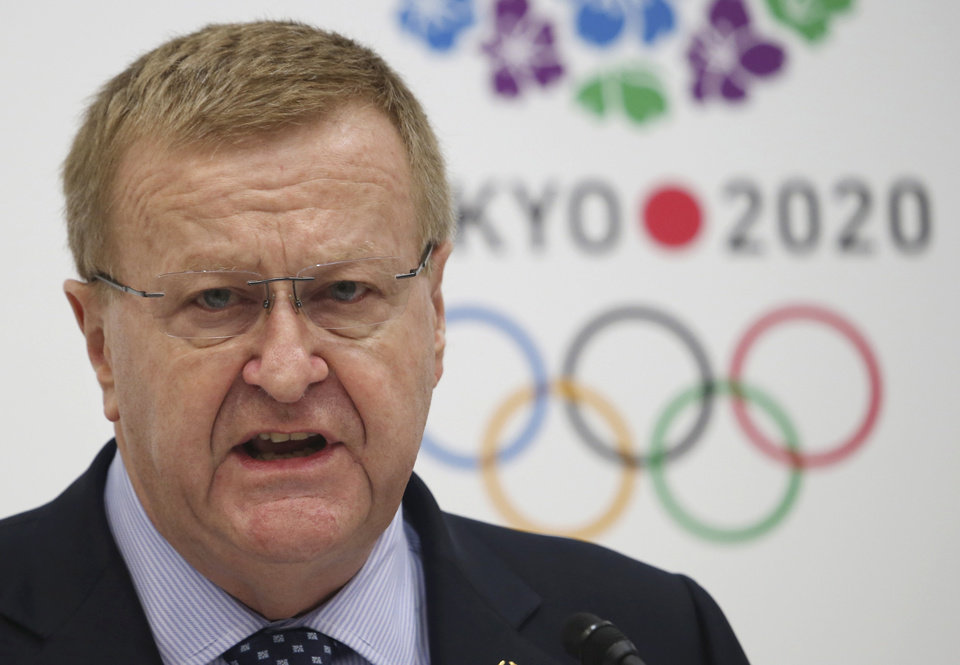 Photo - IOC Vice President John Coates speaks during a press conference after the first coordination commission meeting for the Tokyo 2020 Games, in Tokyo Friday, June 27, 2014. The IOC wrapped up its first coordination commission meeting on Friday, saying any changes to the venue plan should not alter the core principles of the city's winning bid. Japanese Olympic organizers are reviewing their venue plans because of concerns over costs and have suggested some venues may have to be moved. (AP Photo/Koji Sasahara)