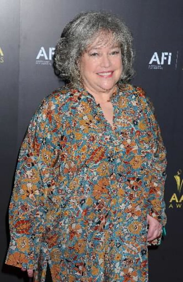 Kathy Bates is recovering from a double mastectomy. AP Photo.