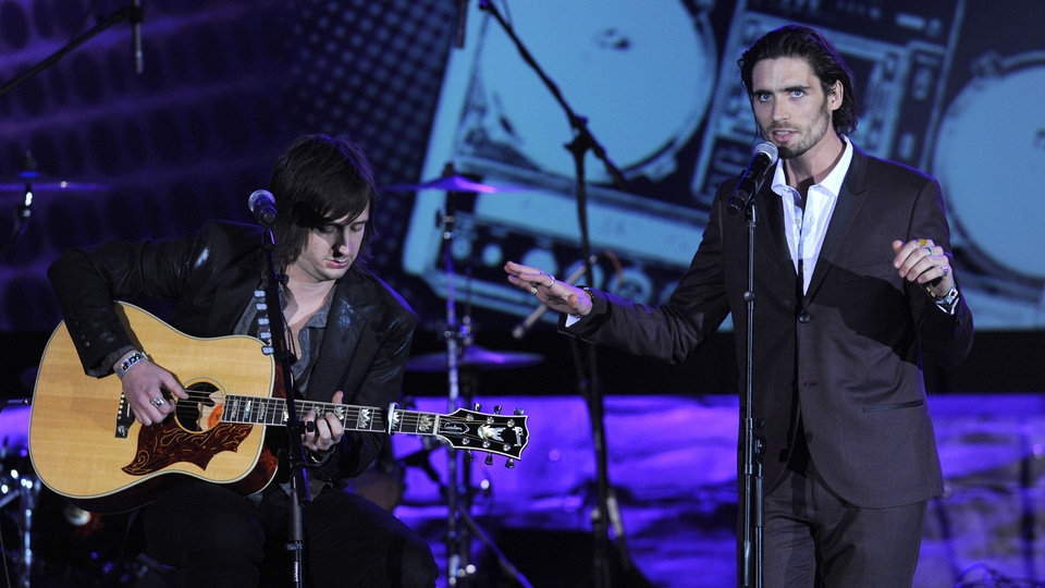 Photo - Tyson Ritter, right, and Nick Wheeler of The All-American Rejects perform at the 27th Annual ASCAP Pop Music Awards in  2010, in Los Angeles. AP Photo